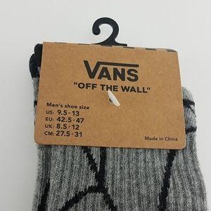 Vans Underwear & Socks - New Vans Crews Gray Spiderman Socks Mens Size 9-13
